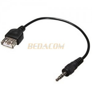 Cable audio jack 3.5mm a USB 2.0 hembra color Negro